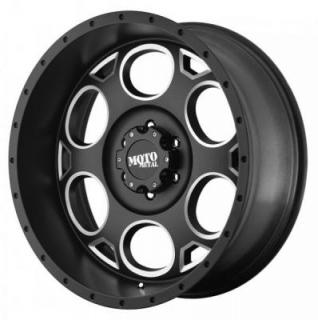 MOTO METAL WHEELS  MO964 SATIN BLACK RIM with MILLED ACCENTS