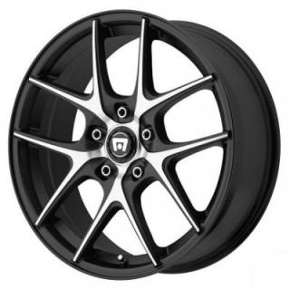 MR128 SATIN BLACK RIM with MACHINED FACE from MOTEGI RACING WHEELS