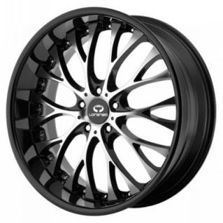 LORENZO WHEELS  WL027 GLOSS BLACK RIM with MACHINED FACE