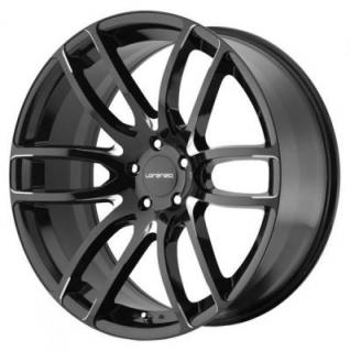 LORENZO WHEELS  WL036 GLOSS BLACK MILLED RIM