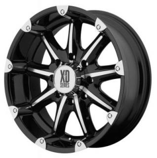 XD SERIES WHEELS  XD779 BADLANDS GLOSS BLACK MACHINED RIM
