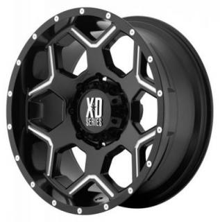 XD SERIES WHEELS  XD812 CRUX GLOSS BLACK RIM with MILLED ACCENTS