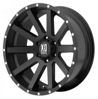 XD SERIES WHEELS  XD818 HEIST SATIN BLACK RIM with MILLED FLANGE