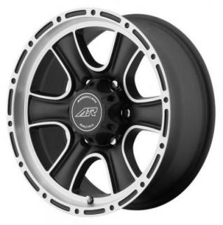 AMERICAN RACING WHEELS  AR902 SATIN BLACK RIM with MACHINED FACE