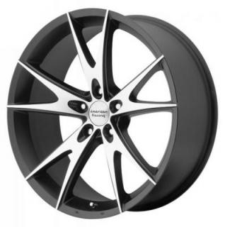 AMERICAN RACING WHEELS  AR903 GLOSS BLACK RIM with MACHINED FACE