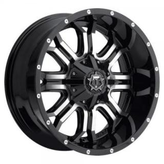 TIS WHEELS  535MB GLOSS BLACK WITH MACHINED FACE