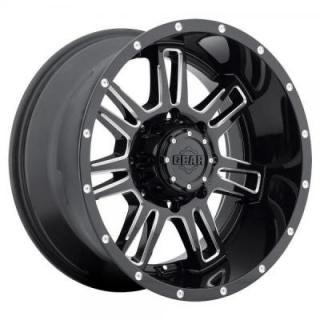 GEAR ALLOY WHEELS  737BM CHALLENGER GLOSS BLACK WITH MACHINED ACCENTS