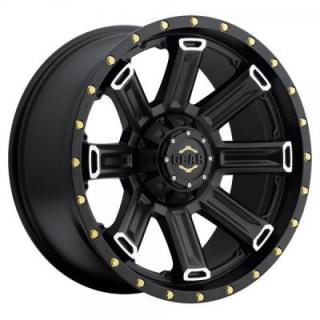 GEAR ALLOY WHEELS  738MB SWITCHBACK BLACK WITH MACHINED ACCENTS