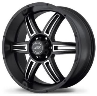 SPECIAL BUY WHEELS  AMERICAN RACING AR890 SATIN BLACK RIM with MACHINED FACE PPT