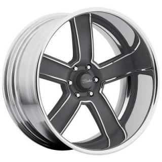 RACELINE WHEELS  EXECUTIVE GRAY RIM with POLISHED FINISH