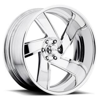 RACELINE WHEELS  COMMANDER POLISHED RIM