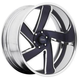RACELINE WHEELS  COMMANDER BLUE RIM with POLISHED FINISH