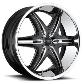 PINNACLE F142 BLACK RIM with STAINLESS STEEL LIP from FOOSE CLASSICS WHEELS