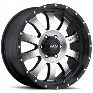 ULTRA WHEELS  XTREME II X105 MATTE BLACK RIM with DIAMOND CUT FACE