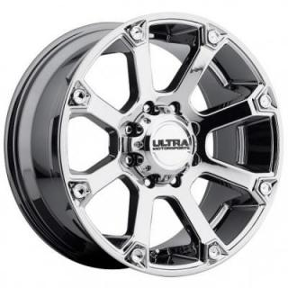 ULTRA WHEELS  SPLINE 245 BRIGHT PVD CHROME 8 LUG RIM