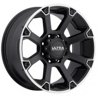 ULTRA WHEELS  SPLINE 245 MATTE BLACK 8 LUG RIM
