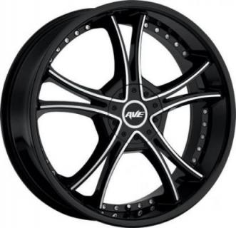 SPECIAL BUY WHEELS  AVENUE A604 GLOSS BLACK/MACHINED PPT