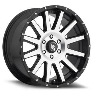 107 GAMER SATIN BLACK RIM with MACHINED FACE by LRG WHEELS