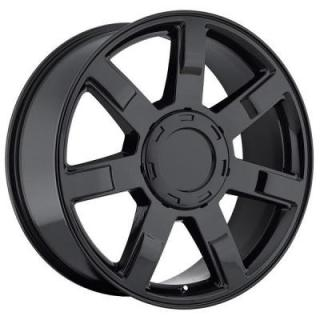 FACTORY REPRODUCTIONS WHEELS  CADILLAC ESCALADE STYLE 36 GLOSS BLACK RIM