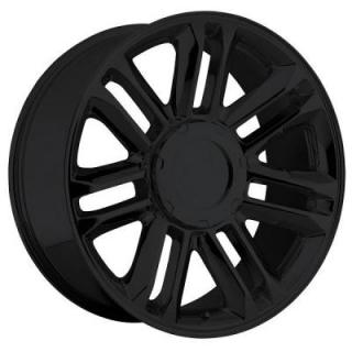 FACTORY REPRODUCTIONS WHEELS  CADILLAC ESCALADE PLATINUM STYLE 39 GLOSS BLACK RIM