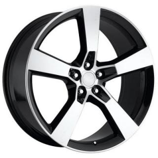 FACTORY REPRODUCTIONS WHEELS  CHEVY CAMARO 2010 STYLE 30 BLACK RIM with MACHINED FACE