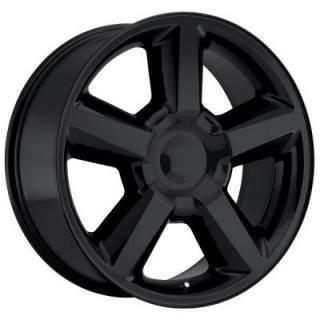 FACTORY REPRODUCTIONS WHEELS  CHEVY TAHOE 2007 STYLE 31 GLOSS BLACK RIM
