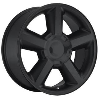 FACTORY REPRODUCTIONS WHEELS  CHEVY TAHOE 2007 STYLE 31 SATIN BLACK RIM