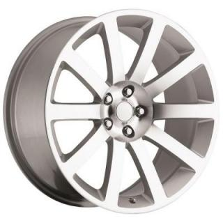 FACTORY REPRODUCTIONS WHEELS  CHRYSLER 300C SRT8 STYLE 65 SILVER MACHINED FACE RIM