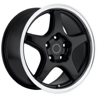 CORVETTE C4 ZR1 STYLE 21 BLACK RIM with MACHINED LIP by FACTORY REPRODUCTIONS WHEELS