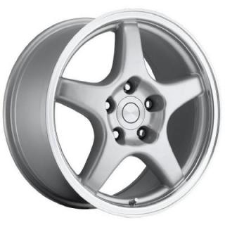 CORVETTE C4 ZR1 STYLE 21 SILVER MACHINED RIM from FACTORY REPRODUCTIONS WHEELS