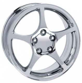 FACTORY REPRODUCTIONS WHEELS  CORVETTE C5 2000 CHROME RIM