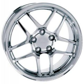 FACTORY REPRODUCTIONS WHEELS  CORVETTE C5 Z06 2001-2004 STYLE 16 CHROME RIM