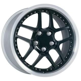 FACTORY REPRODUCTIONS WHEELS  CORVETTE C5 Z06 MOTORSPORT BLACK RIM with MACHINED LIP