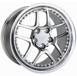 FACTORY REPRODUCTIONS WHEELS  CORVETTE C5 Z06 MOTORSPORT CHROME RIM