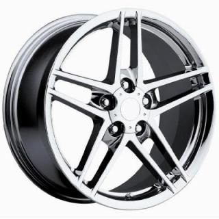 FACTORY REPRODUCTIONS WHEELS  CORVETTE C6 Z06 CHROME RIM