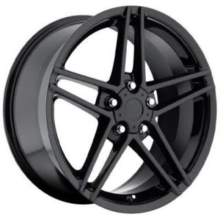 FACTORY REPRODUCTIONS WHEELS  CORVETTE C6 Z06 STYLE 10 GLOSS BLACK RIM