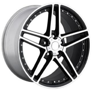 FACTORY REPRODUCTIONS WHEELS  CORVETTE C6 MOTORSPORT Z06 BLACK RIM with MACHINED FACE and LIP