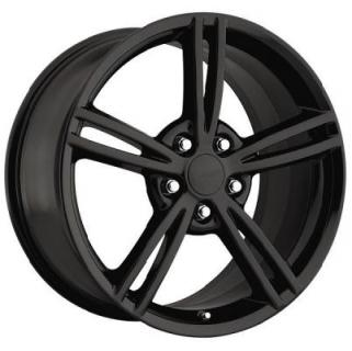 FACTORY REPRODUCTIONS WHEELS  CORVETTE C6 2008 BLACK RIM