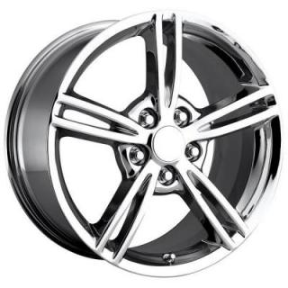 FACTORY REPRODUCTIONS WHEELS  CORVETTE C6 2008 CHROME RIM
