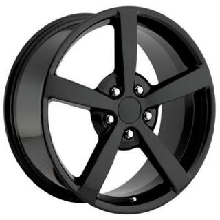 FACTORY REPRODUCTIONS WHEELS  CORVETTE C6 2009 BLACK RIM