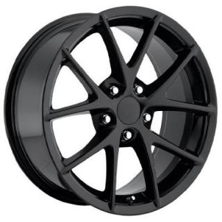 FACTORY REPRODUCTIONS WHEELS  CORVETTE C6 Z06 SPYDER 2009 STYLE 18 GLOSS BLACK RIM