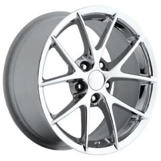 FACTORY REPRODUCTIONS WHEELS  CORVETTE C6 Z06 SPYDER 2009 STYLE 18 CHROME RIM