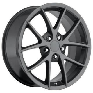 FACTORY REPRODUCTIONS WHEELS  CORVETTE C6 Z06 SPYDER 2009 STYLE 18 COMP GREY RIM