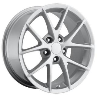FACTORY REPRODUCTIONS WHEELS  CORVETTE C6 Z06 SPYDER 2009 STYLE 18 SILVER RIM