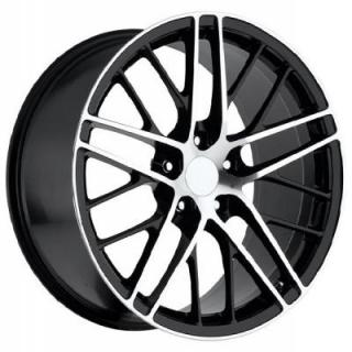 FACTORY REPRODUCTIONS WHEELS  CORVETTE C6 ZR1 2009 STYLE 15 BLACK MACHINED FACE RIM