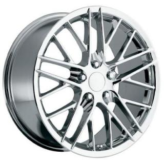 FACTORY REPRODUCTIONS WHEELS  CORVETTE C6 ZR1 2009 STYLE 15 CHROME RIM