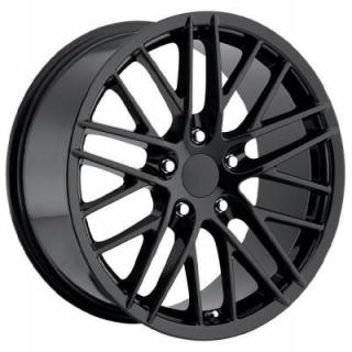 FACTORY REPRODUCTIONS WHEELS  CORVETTE C6 ZR1 2009 STYLE 15 GLOSS BLACK RIM