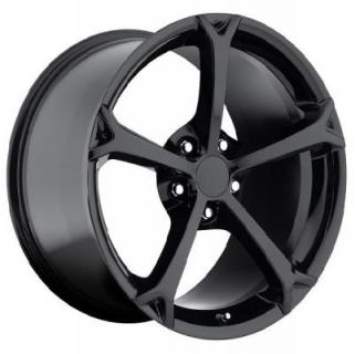 FACTORY REPRODUCTIONS WHEELS  CORVETTE C6 GRAND SPORT 2010 STYLE 19 GLOSS BLACK RIM