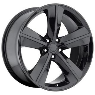 FACTORY REPRODUCTIONS WHEELS  DODGE CHALLENGER SRT8 STYLE 62 GLOSS BLACK RIM