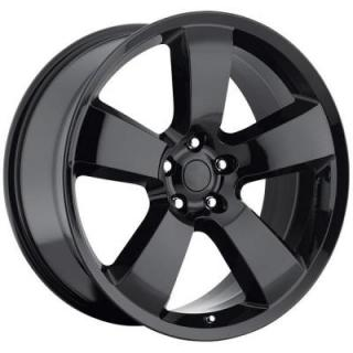 FACTORY REPRODUCTIONS WHEELS  DODGE CHARGER GLOSS BLACK
